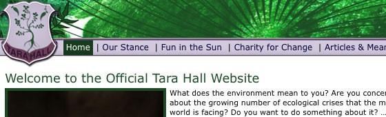 Tara Hall Environmental Website